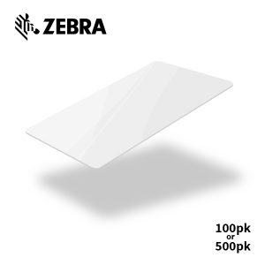 Zebra Premier White Cards