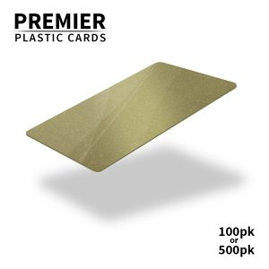 Premier Dark Gold Plastic Cards