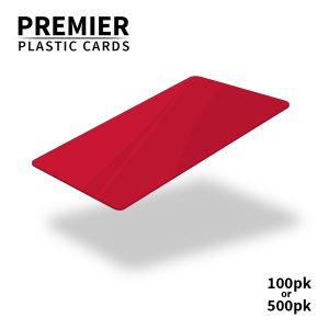 Premier Red Plastic Cards