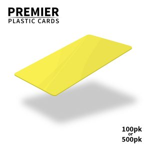 Premier Yellow Plastic Cards