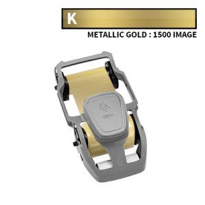 Zebra ZC300 Metallic Gold Ribbon