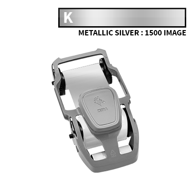 Zebra ZC100 Metallic Silver Ribbon