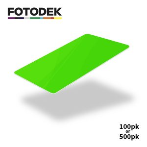 Fotodek Fluorescent Green Cards