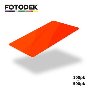 Fotodek Fluorescent Orange Cards