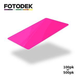 Fotodek Fluorescent Pink Cards