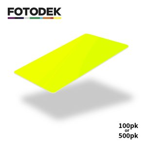 Fotodek Fluorescent Yellow Cards