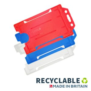 Rigid Recyclable Card Holder Portrait