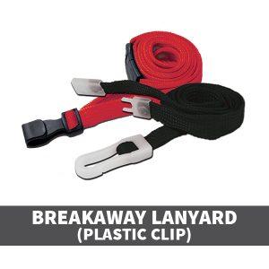 Breakaway Lanyards Plastic Clip
