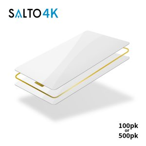 SALTO 4k Blank White Cards