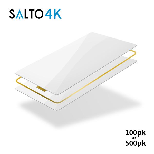 SALTO 4k Blank White Cards